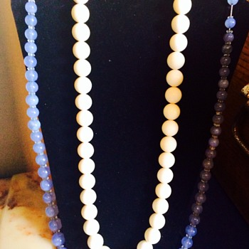 Antique Ivory and Crystal necklaces - Fine Jewelry