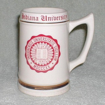 Indiana University Ceramic Mug Stein - Breweriana
