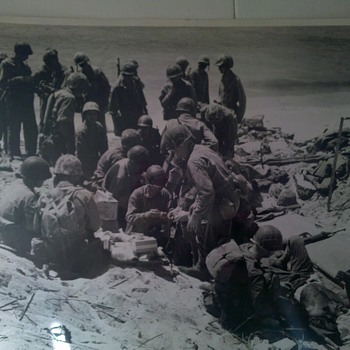 WWII Official US Coast Guard photo: FIRST AID STATION ON FRAGIL ISLAND - Military and Wartime