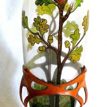 EXTREMELY RARE STEINSHONAU KARL LORENZ VASE. - Art Glass