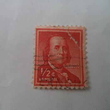 Benjamin Franklin 1/2 Stamp