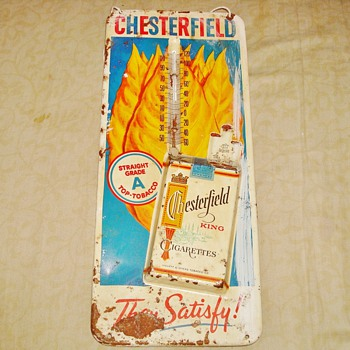 Chesterfield Cigarettes Tin Sign - Advertising