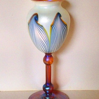 Rare V. Durand Floriform Vase c.1925. - Art Glass