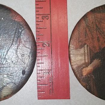 Set of 2 Decoupage Discs - Visual Art