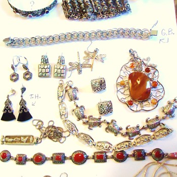 Sterling Jewelry, Unknown Country or makers?  As always could use help! - Fine Jewelry