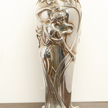 Sterling Silver Deco Vase - Art Deco