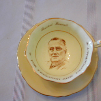 President Rosevelt Apricot Colour Paragon Cup and Saucer