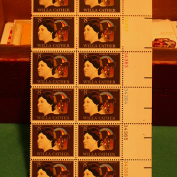 1973 Willa Cather American Novelist 8¢ Stamps