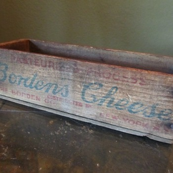 Old Borden's Cheese Box - Advertising