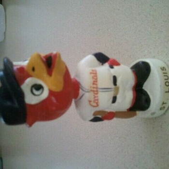 1961-63 white base series St. Louis Cardinals bobblehead - Baseball
