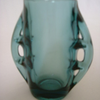 Moulded Glass Vase by Eryka Drost