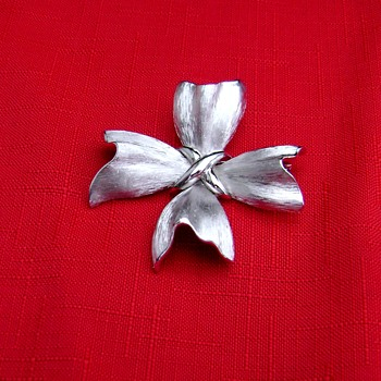 Vintage Trifari Brooch - Maltese Cross - Costume Jewelry