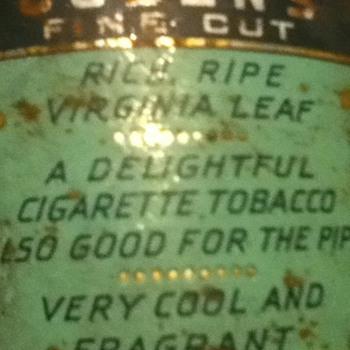Ogdens tabbaco tin