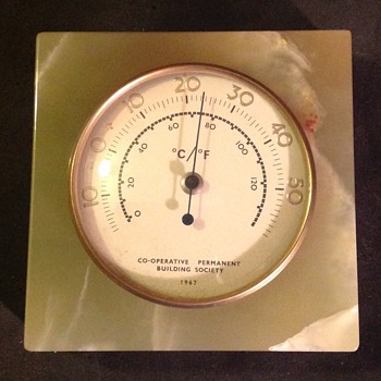 Desk thermometer in onyx, 1967