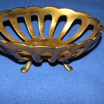 Vintage Brass Soap Dish - Victorian Era