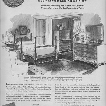 1950 Stickley Furniture Advertisement - Advertising