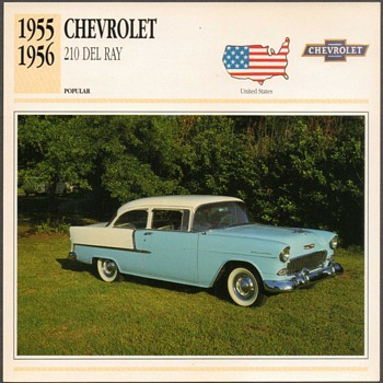 Vintage Car Card - Chevrolet 210 Del Ray - Cards