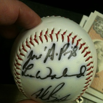 Jose Albert Pujols signed baseball - Baseball