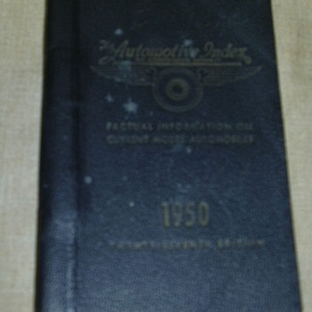 1950 Auto Salesman Book