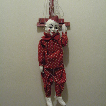 C.1950  - TETO - HAZELLE'S MARIONETTE  NO.8O1 WITH ORIGINAL BOX AND PAPERS
