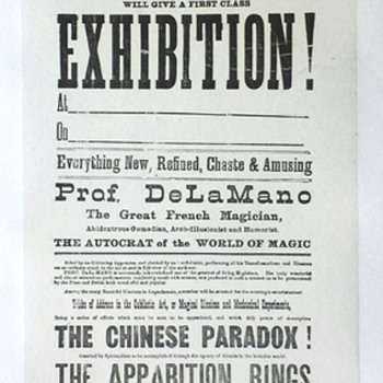 "Original 1877 De La Mano ""Wizard of the East"" Broadside"