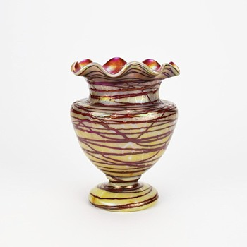 KRALIK TOOLED AND THREADED VASE