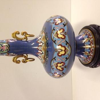 Asian enamel gold vase - Asian
