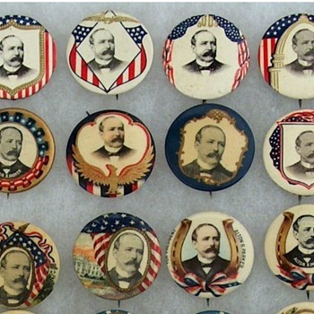 Alton Parker pinback button's - Medals Pins and Badges