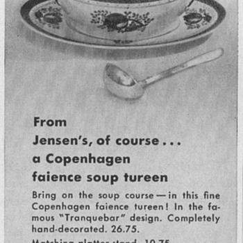 1950 Georg Jensen Advertisement - Advertising