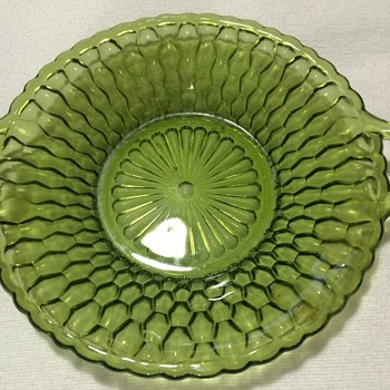 Vintage Green Dish - Glassware