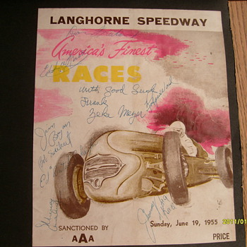 1955 Autographed Racing Program - Posters and Prints