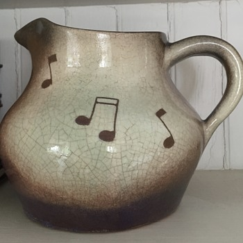 Throckmorton of N.C. Pitcher with Musical Notes 1940s?