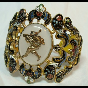 Antique Enamel Bracelet - Fine Jewelry