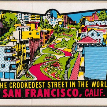 "Travel Sticker - ""San Francisco"" - Advertising"