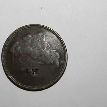 1827 intitials J.H. Unknown token or coin? dashes on back