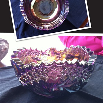 Gorgeous purple/rainbow bowl - Glassware