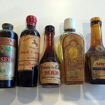 My Grandfather's Collection of Sealed Liquor bottles