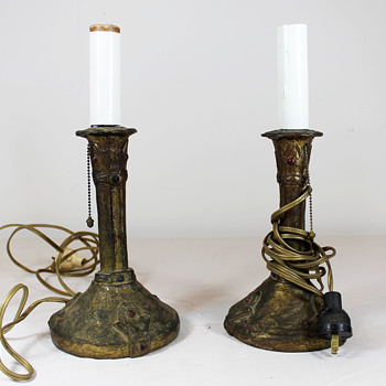 Looking for info on these Art Nouveau(?) table lamps - Lamps