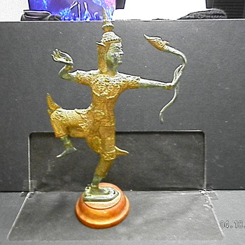 My Bronze Gilded Sculpture of the Hindu God Rama - Asian