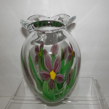 Paperweight Vase of Unknown Origin Unsigned Possibly Murano?? - Art Glass