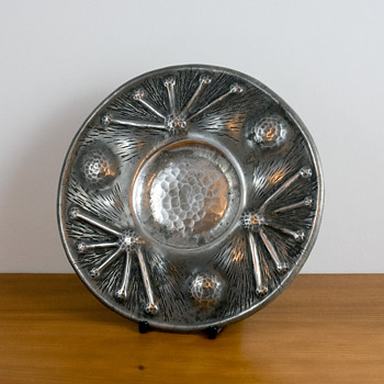 Arts and Crafts Pewter Plate/Tray, possibly by AEChanal
