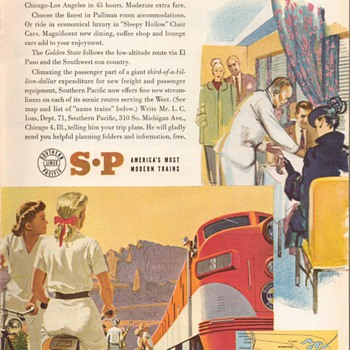 1951 - Southern Pacific Railroad Advertisements