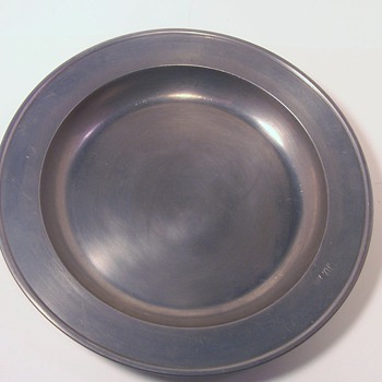 Old Pewter Plate with Hallmark