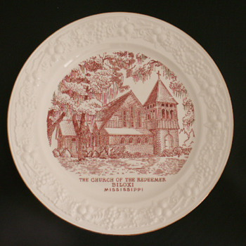 Church Plate, Biloxi, Mississippi - China and Dinnerware