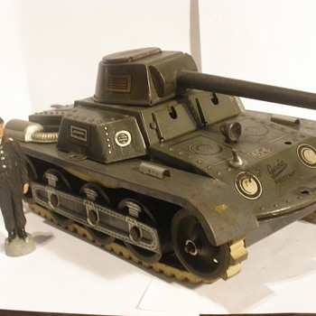 Gescha post war Tank. Tin windup.