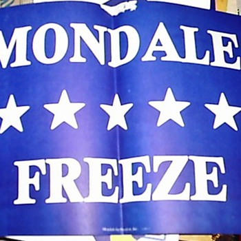 Walter Mondale '84 campaign sign