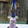 going green using recycled glass for birdbaths