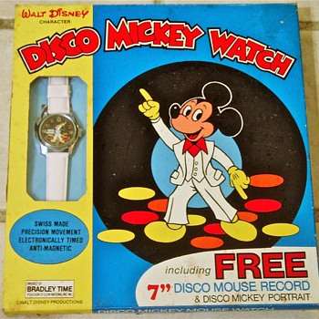 Saturday Night Mickey Watch and Vinyl