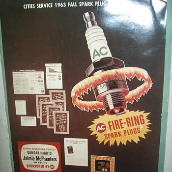 AC spark plug advertising - Advertising