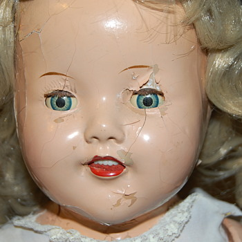 1930s Shirley Temple Look Alike Unmarked Composition Doll - Dolls